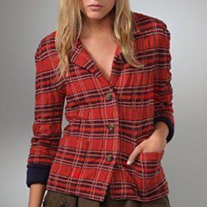 MARC BY MARC JACOBS Alma Tartan Sweater Jacket M